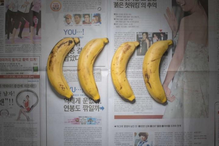 Dienvidkoreja – 2,15 dolāri. Var nopirkt 4 banānus, vai dažas saujas žāvētu aļģu, vai arbūzu.