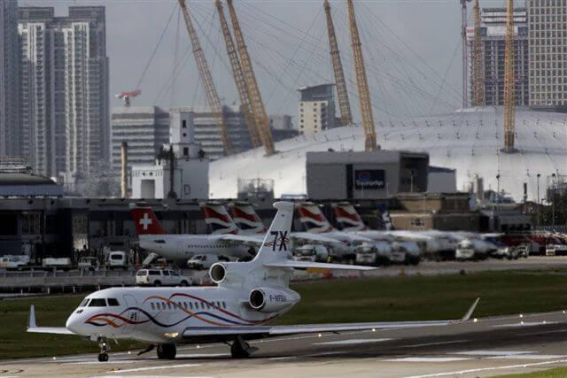 10. vieta - Londonas pilsētas lidosta (London City Airport (LCY)) -- Pasažieru skaits gadā: 3,4 miljoni