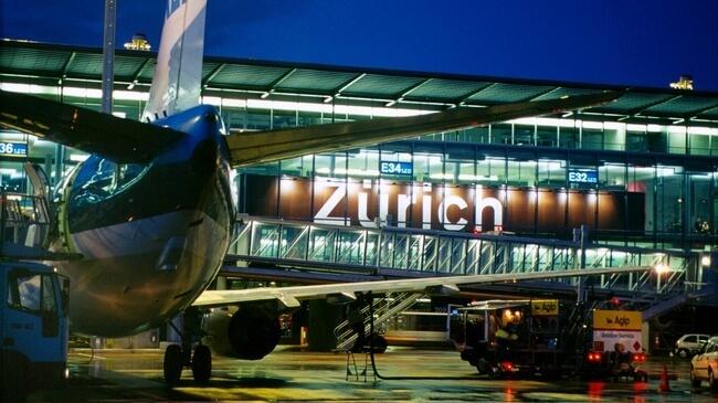 2. vieta - Cīrihes lidosta (Zurich Airport (ZRH)) -- 2. vieta - Cīrihes lidosta (Zurich Airport (ZRH)) -- Pasažieru skaits gadā: 24,9 miljoni