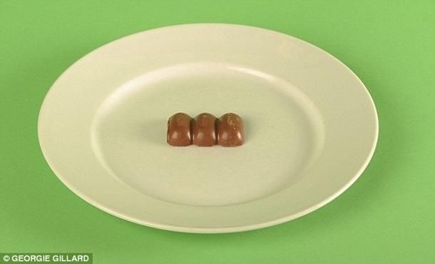 3 gabaliņi piena šokolādes