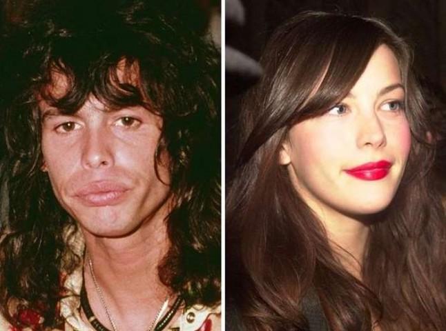 Aerosmith mūziķis Stīvens Tailers un viņa meita Līva