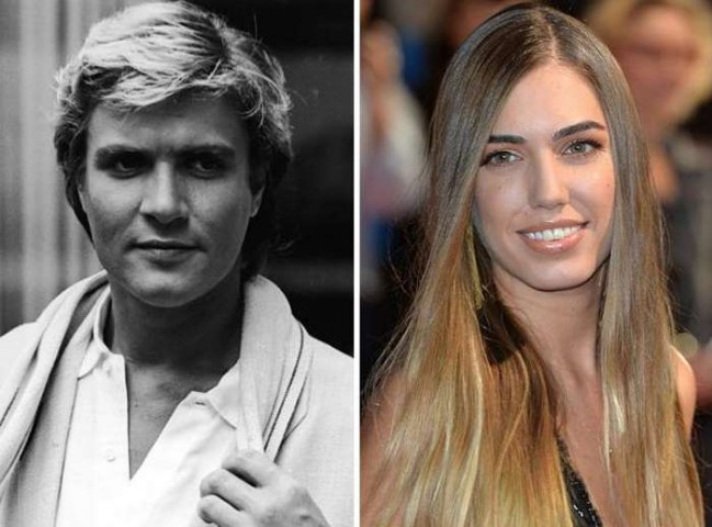 """Astoņdesmitos gados populārās grupas """"Duran Duran"""" līderis Saimons Le Bons un viņa meita Ambera"""