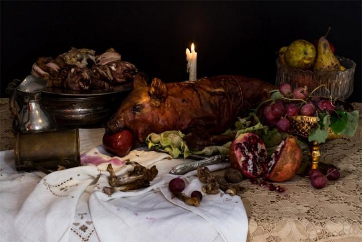 """Pirmais Anglijas karalis Henrijs VII Tjudors. """"Mielasta diēta"""": sivēna, vistas, truša, aitas gaļa, augļi un vīns"""