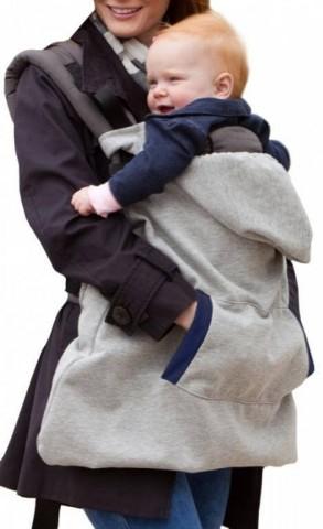 """Bērna pārnēsājamā """"soma"""", kurā ir silti gan bēbim, gan māmiņai"""