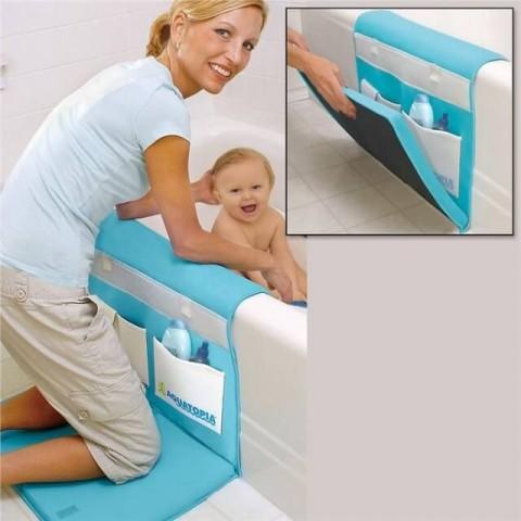 Paklājiņš pie vannas saudzēs māmiņas ceļus