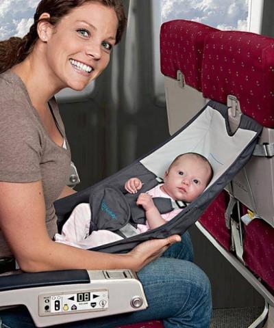 Šūpulītis ceļošanai lidmašīnā