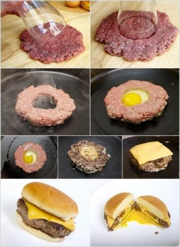 Mājās gatavots hamburgers
