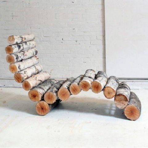 Atpūtas krēsls no pagalēm