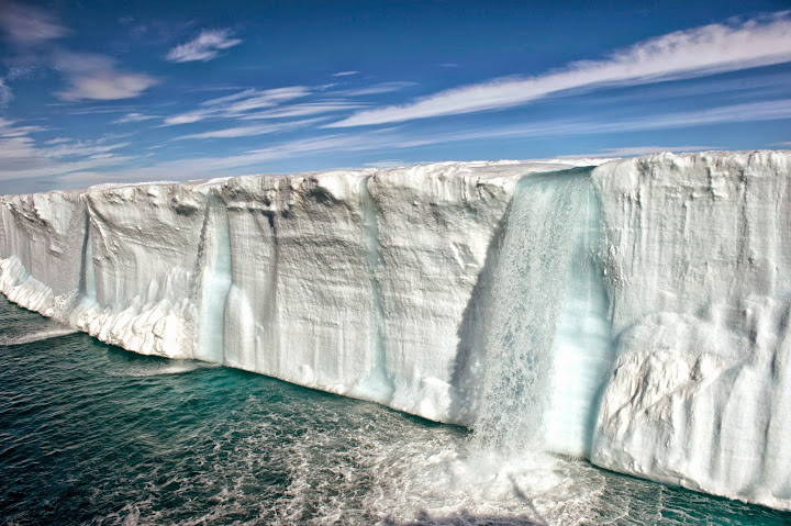 Kūstošs ledājs Norvēģijā, Špicbergenā