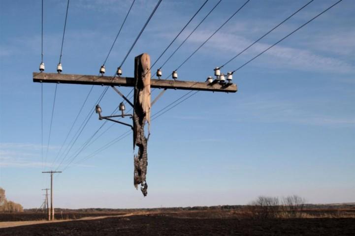 """Šī nav kāda sirreālista fantāzija, bet gan stabs, kurš palicis daļēji """"dzīvs"""" ugunsgrēkā, kas plosījās Rudņjas ciemā Volgogradas apgabalā Krievijā."""