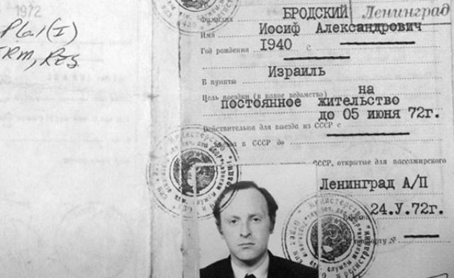 Ebreju izcelsmes krievu dzejnieks un esejists Josifs Brodskis