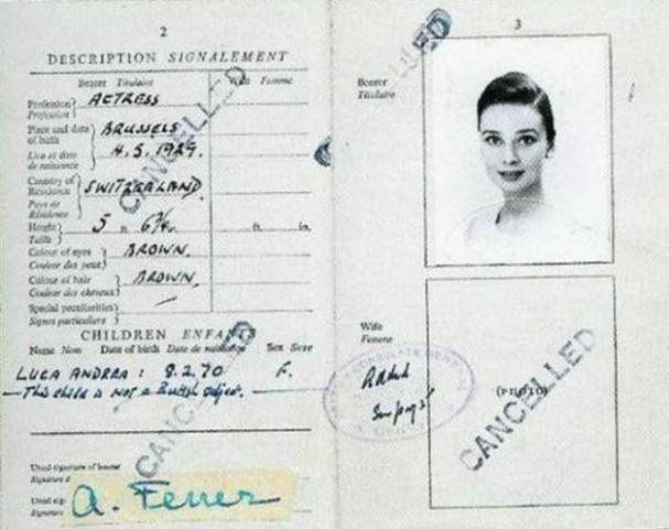 Odrija Hepberna, nīderlandiešu izcelsmes angļu aktrise un modele