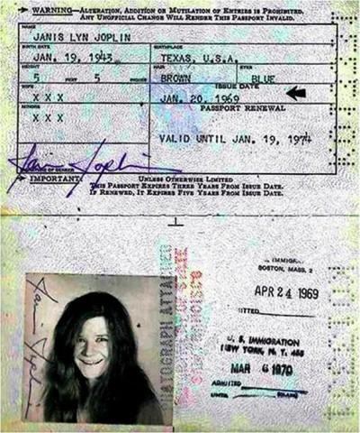Dženisa Džoplina, amerikāņu 60. gadu mūzikas un hipiju kustības ikona