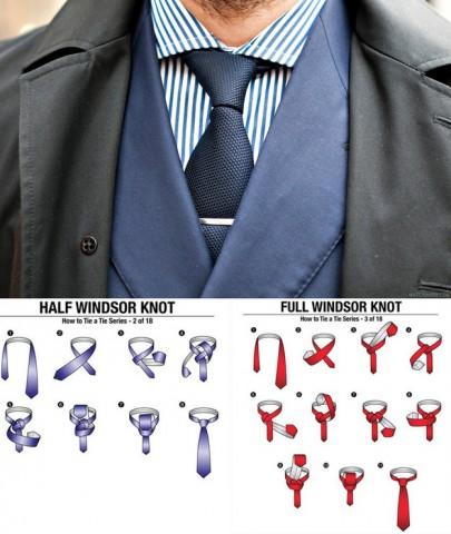 Kaklasaitei vienmēr izvēlieties klasisko Vindzoras mezglu, taču esiet uzmanīgi. Padomājiet, vai nepieciešams daļējais vai pilnais Vindzoras mezgls.
