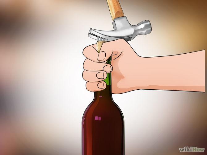 kā atvērt vīna pudeli