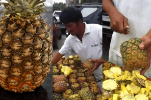 Kā sagriezt ananāsu minūtes laikā un nenoķēpāties