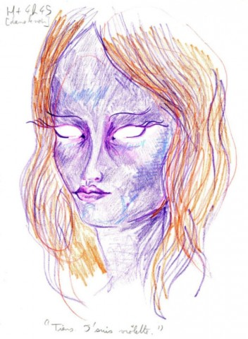 """""""Parasti es acis zīmēju pašās beigās, jo nevēlos, lai attēls uz mani raudzītos, kamēr zīmēju. Šobrīd es nevēlos, lai attēls uz mani skatītos vispār""""."""