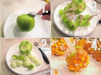 veselīgās ābolu konfektes