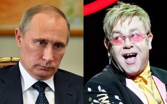 Vladimirs Putins Eltons Džons