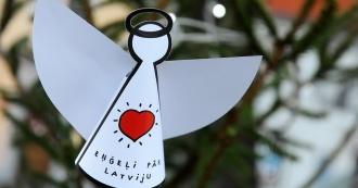 eņģeļi pār Latviju