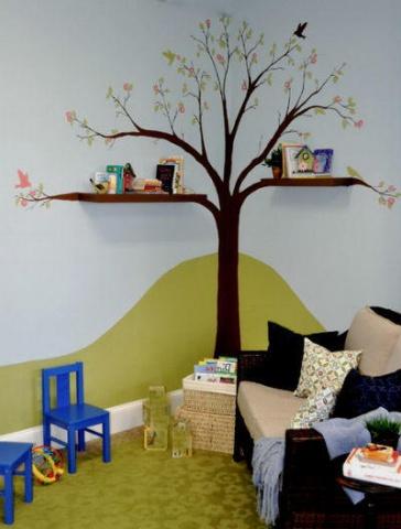 Stūris bērnistabā var pārtapt telpas dekorā, turklāt funkcionālā