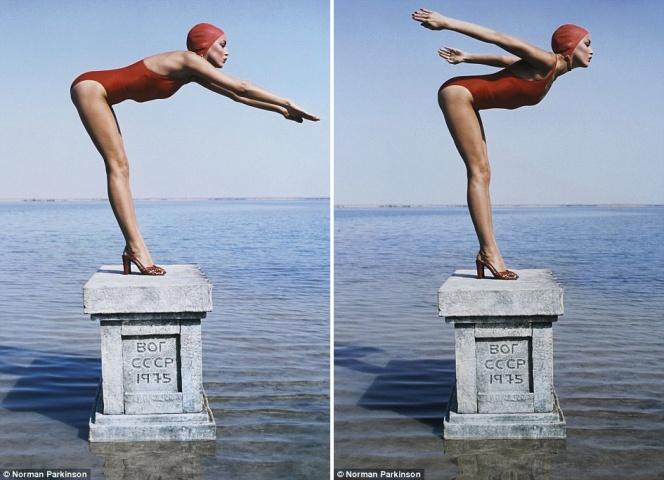 Izsolē tiks piedāvāti arī fotogrāfa Normana Pārkinsona (Norman Parkinson) darbi. Modele Džerija Holla 1975.gadā pozē žurnālam Vogue. Fotogrāfija uzņemta PSRS teritorijā. Orientējošā sākumcena: 6 000 sterliņu mārciņas.