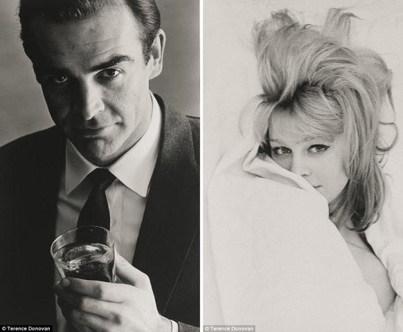 Fotogrāfa Terensa Donovana (Terence Donovan) uzņemtie Šona Konerija un Džulijas Kristi (1962) melnbaltie portreti tiks izsolīti apmēram par 1 500 – 3 500 sterliņu mārciņām.