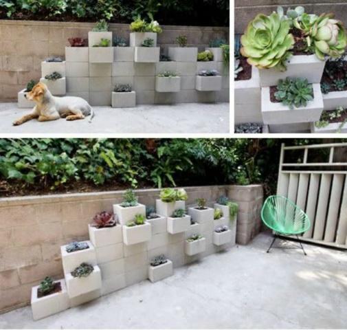 Cements, ķieģeļi vai cits materiāls, kas palicis pāri pēc remonta var pārtapt stilīgās dobēs, un jūsu vasarnīcas pagalmu apbrīnot nāks tuvi un tāli kaimiņi.