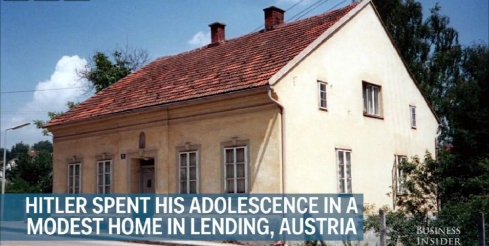 Treša Reiha fīrera Ādolfa Hitlera bērnības māja Austrijā