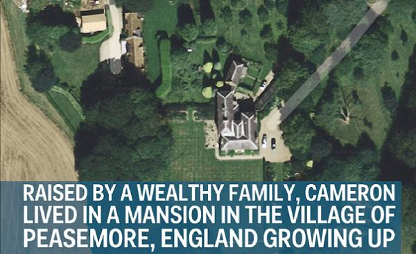 Lielbritānijas premjerministrs Deivids Kamerons piedzima pārtikušā ģimenē un savu bērnību aizvadīja villā Pīsemoras ciemā.