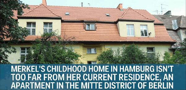 Vācijas kancleres Angelas Merkeles bērnības gadi aizritēja šādā mājiņā Hamburgā, ne pārāk tālu no vietas, kur šobrīd atrodas viņas rezidence.