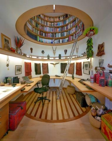 Bibliotēka griestos