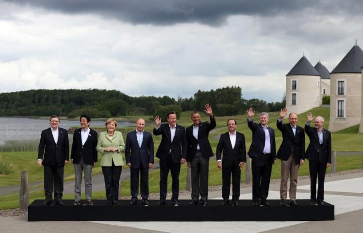 Kanclere Angela Merkele kopā ar citiem G8, 2013.gads