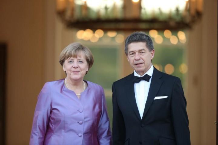 Angela Merkele ar vīru Joahimu Zaueru 2015.gada 4.jūnijā