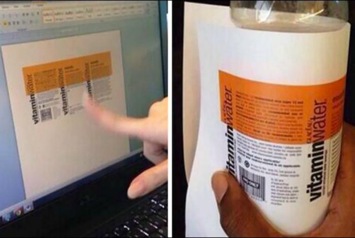 Minerālūdens pudeles etiķete - pašrocīgs dizains