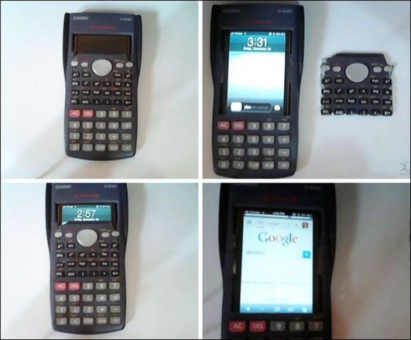 Kalkulatorā nomaskēts viedtālrunis