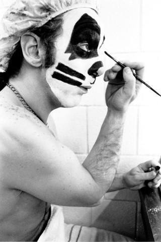 Pīters Kriss pirms koncerta Ņujorkā, aptuveni 1975.gads