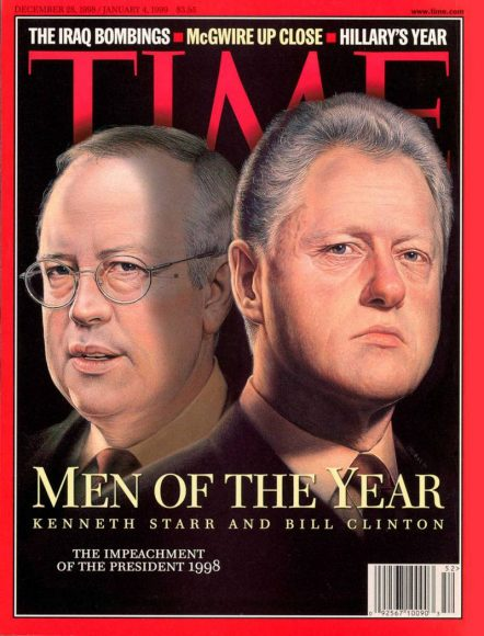 1998.gads - Kenets Stārs un Bils Klintons