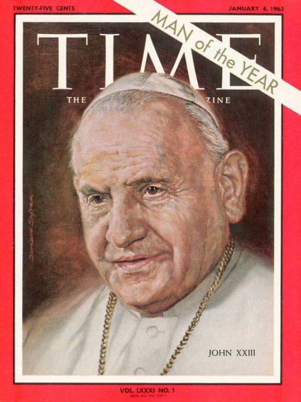1962.gads - pirmais Romas pāvests Jānis XXIII