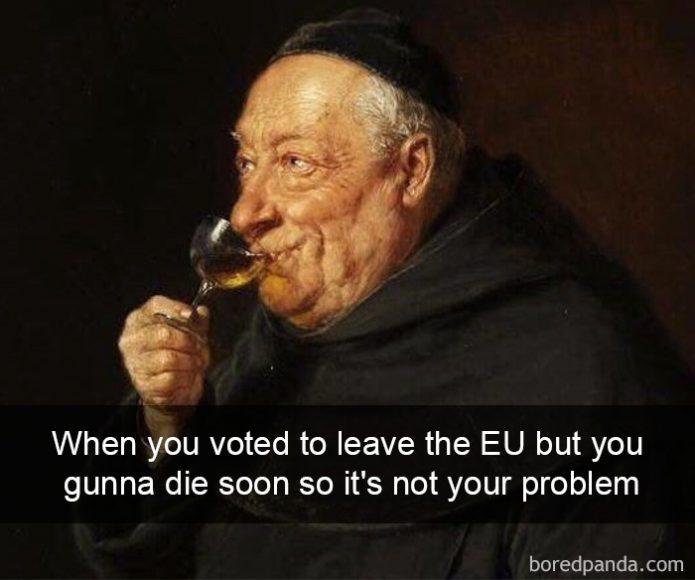 Kad esi balsojis par izstāšanos no ES, bet drīz nomirsi un tā vairs nav tava problēma