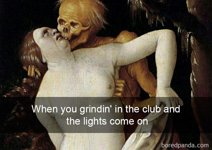 Kad klubā ar kādu spaidies, bet pēkšņi iedegas gaisma