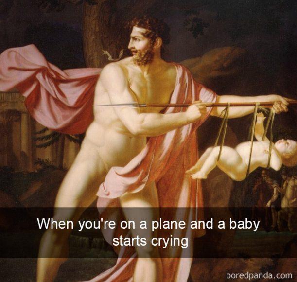 Kad lidojuma laikā sāk brēkt kāds mazulis
