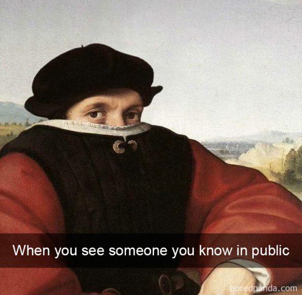 Kad sabiedriskā vietā ieraugi paziņu