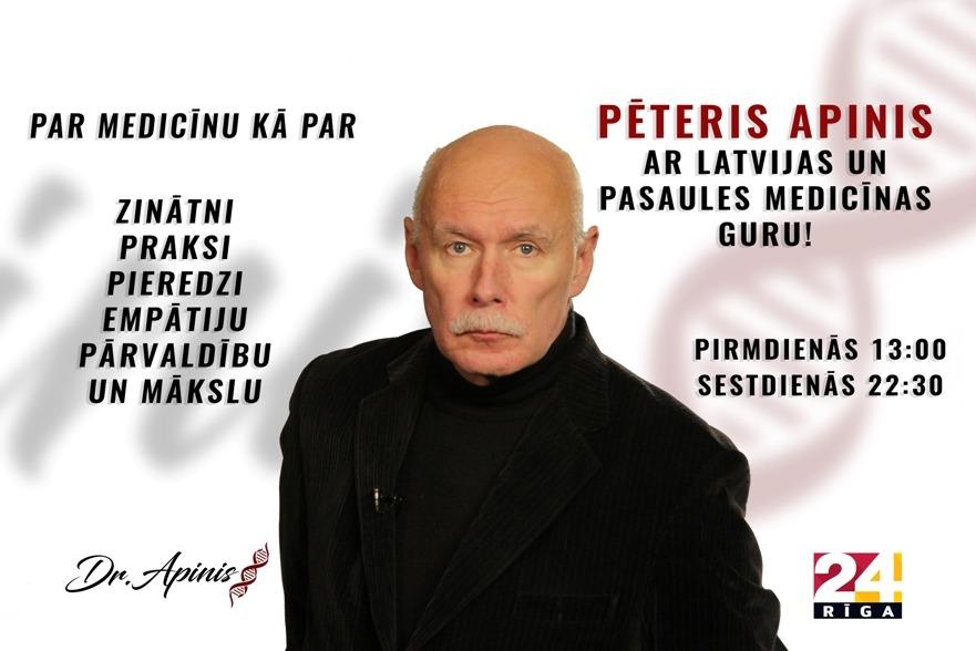raidījuma Dr.Apinis plakāts