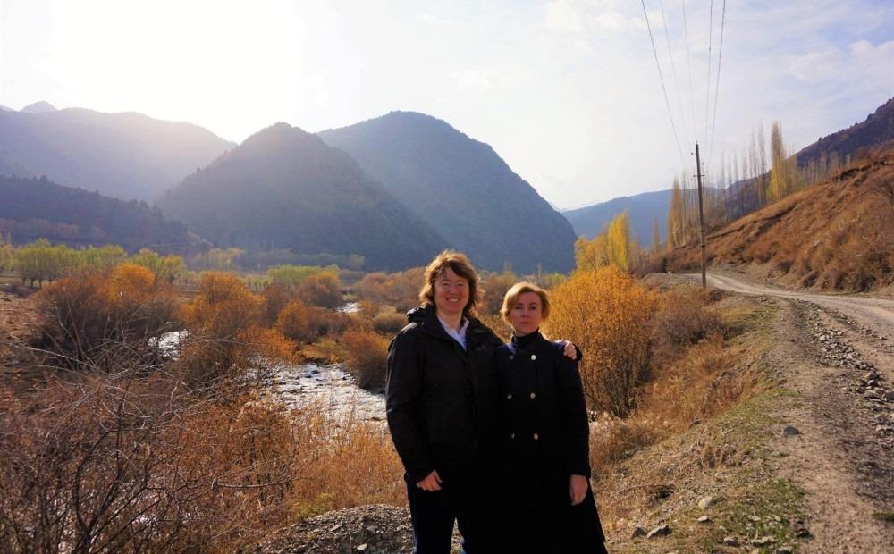 Marija Golubeva ar vīru/sievu Diānu